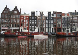 Amsterdam, waterside homes