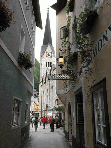 Narrow Street in Austria