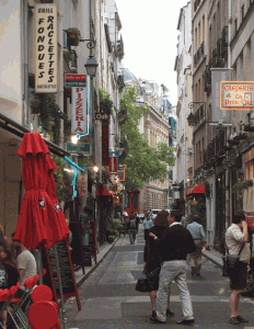 Narrow Street in Paris